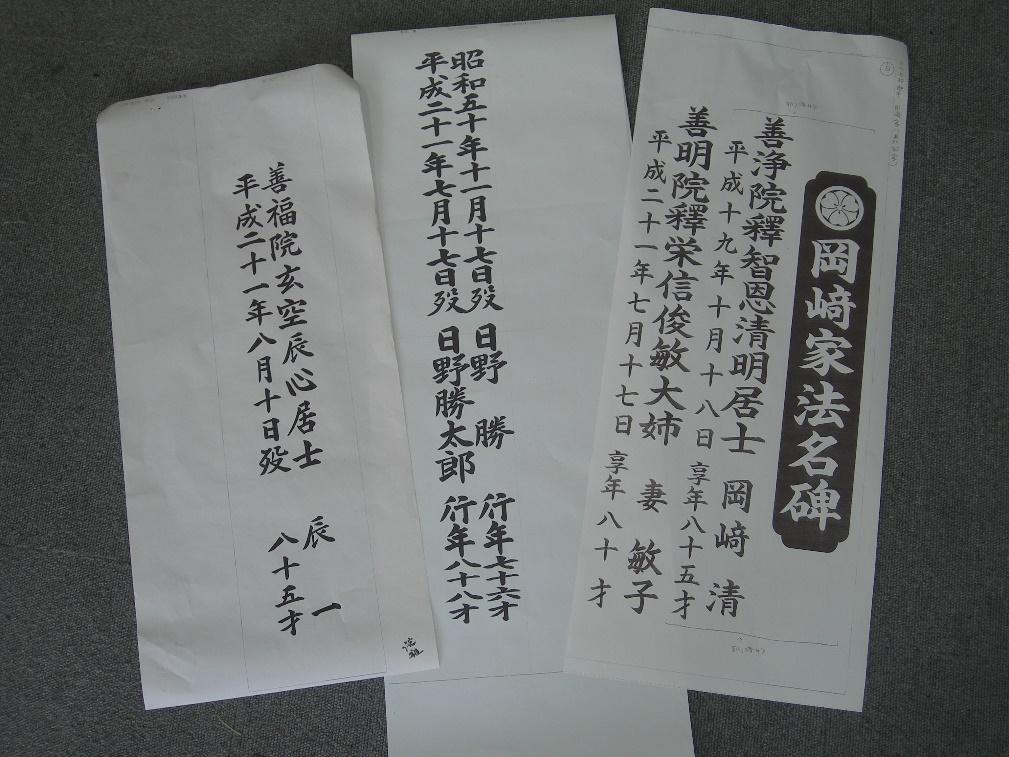 彫る文字の原稿