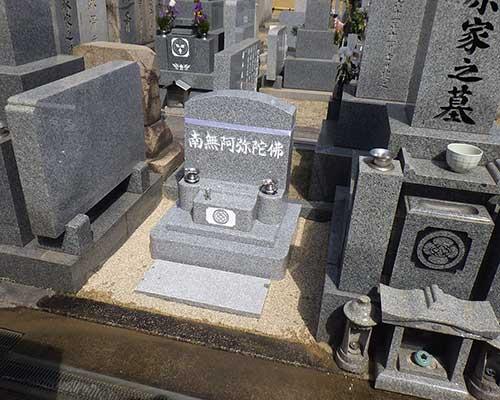 寺院墓地内の洋墓の施工