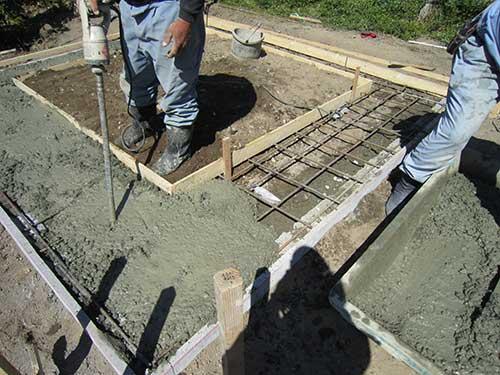 布基礎鉄筋施工