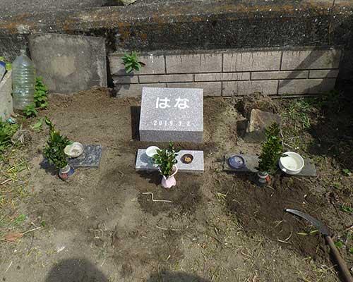 愛犬のお墓施工