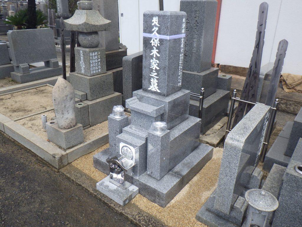 神戸型 8寸角 代々墓 三重台
