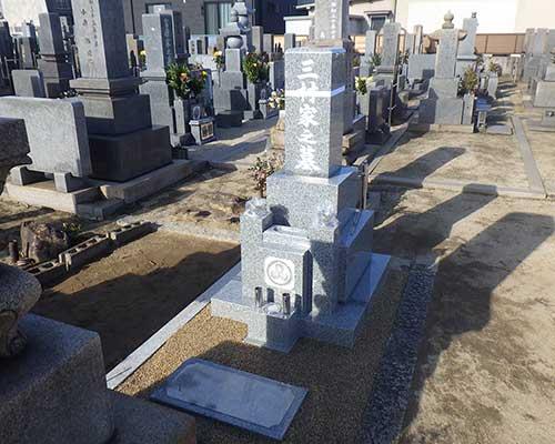 地域墓地内のお墓の施工