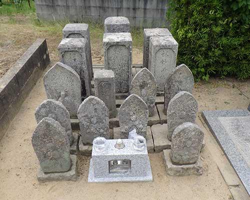 先祖墓の竿石のみ合祀の施工