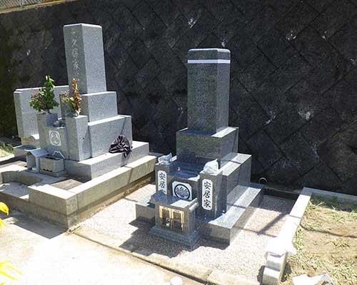 地域墓地の施工