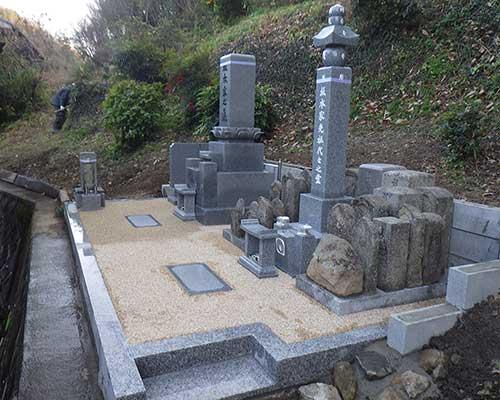 墓地造成と合祀墓の施工