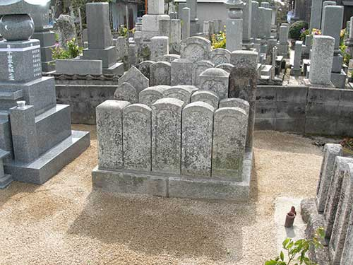施工例)古墓の合祀施工
