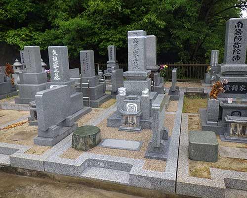 市営墓地での施工